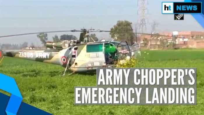 Watch: Indian Army's Chetak chopper makes emergency landing in Punjab village
