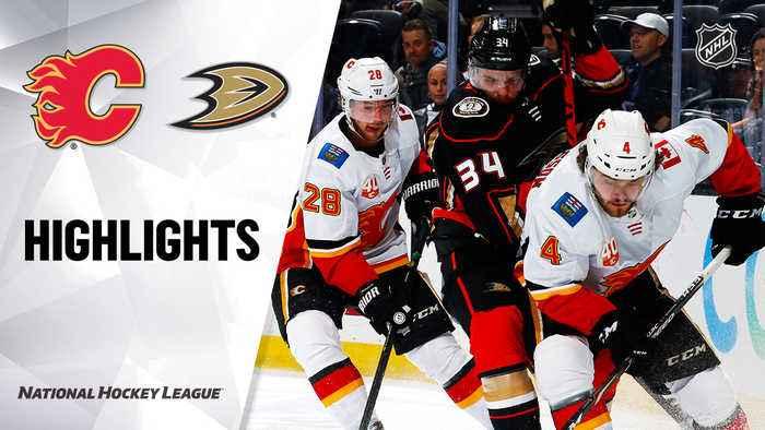NHL Highlights   Flames @ Ducks 2/13/20