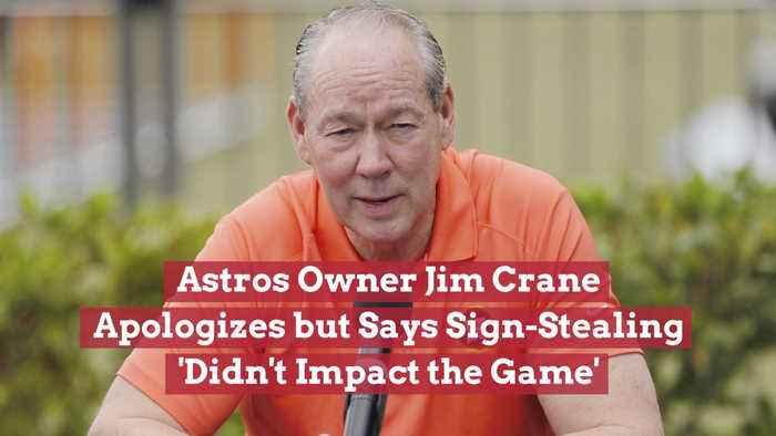 Astros OwnerJim Crane Is Sorry