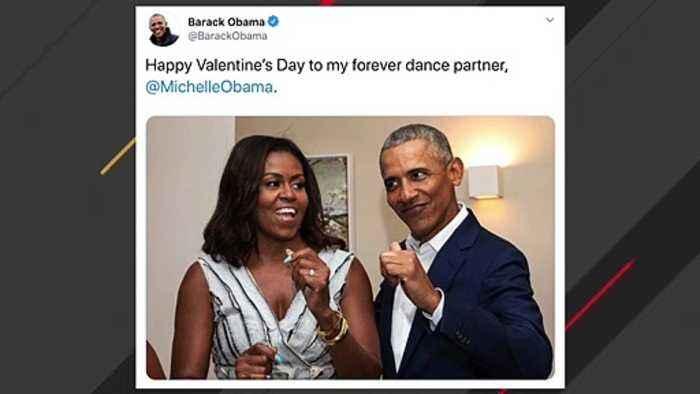 Barack, Michelle Obama Post Valentine's Day Messages