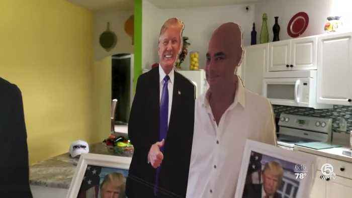 Port St. Lucie dialysis patient not allowed to bring life-size President Trump cardboard cutout for treatment