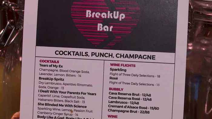 Drown your Valentine's Day sorrow at the 'Break Up Bar'