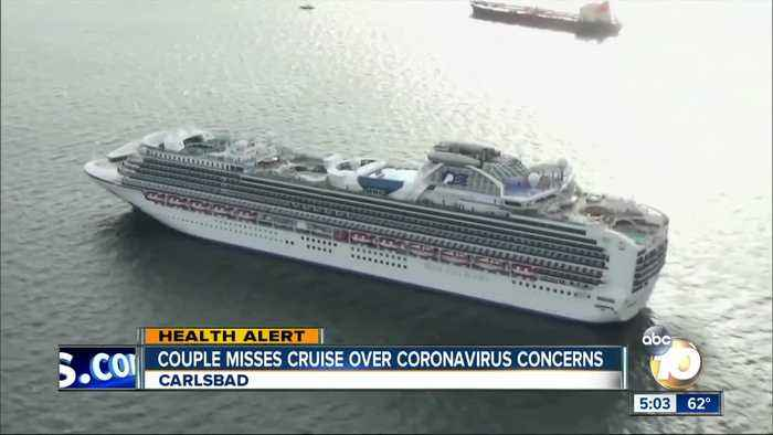 Couple misses cruise over coronavirus concerns