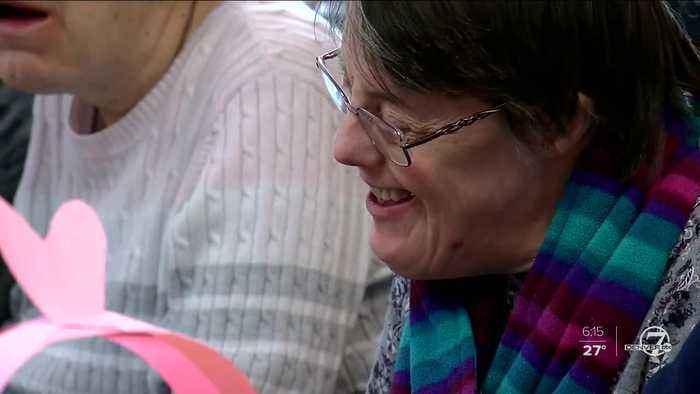 Making Valentine's cards isn't just for kids: Seniors with disabilities benefit from activity, too