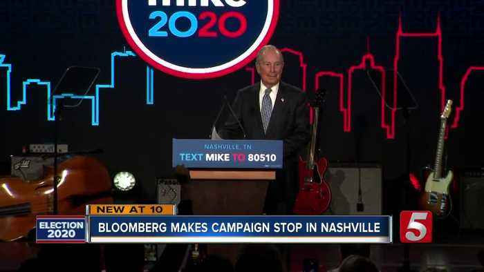 Michael Bloomberg hosts early vote rally in Nashville
