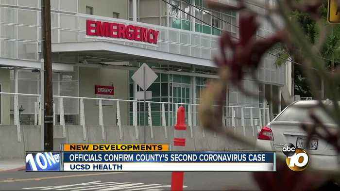 Officials confirm San Diego County's second coronavirus case