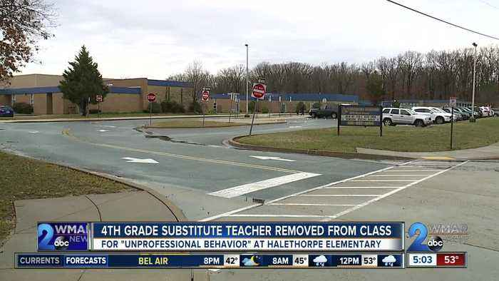 4th grade substitute teacher removed from class at Halethorpe Elementary
