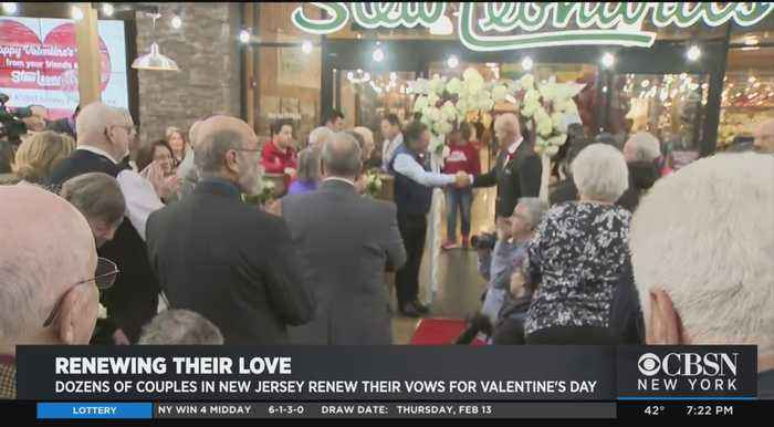 Dozens Of Couples In New Jersey Renew Their Vows For Valentine's Day