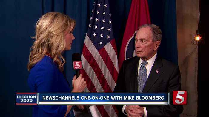 'He breaks promises. I keep them.' Bloomberg talks with NewsChannel 5 in on-on-one interview