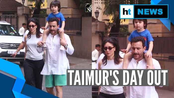 Watch: Saif-Kareena's day out with son Taimur