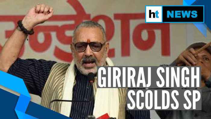 Watch: Giriraj Singh calls Begusarai SP, scolds over poor law and order