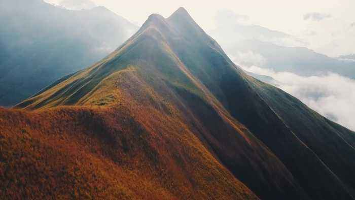 This is the incredible footage of the gorgeous peak of Kulagu 'Hummingbird' Mountain