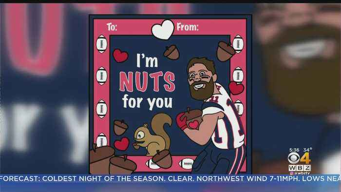 Annual New England Patriots-Themed Valentine's Day Cards Released