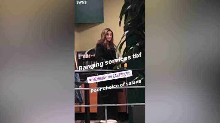Caitlyn Jenner spotted getting a Subway at a UK motorway service station