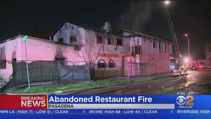 Vacant Pasadena Restaurant Goes Up In Flames