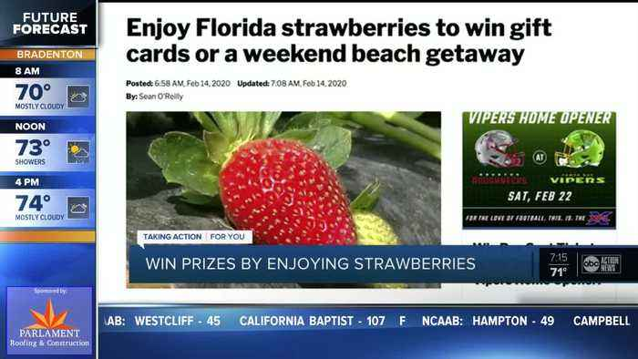 Enjoy Florida strawberries to win gift cards or a weekend beach getaway