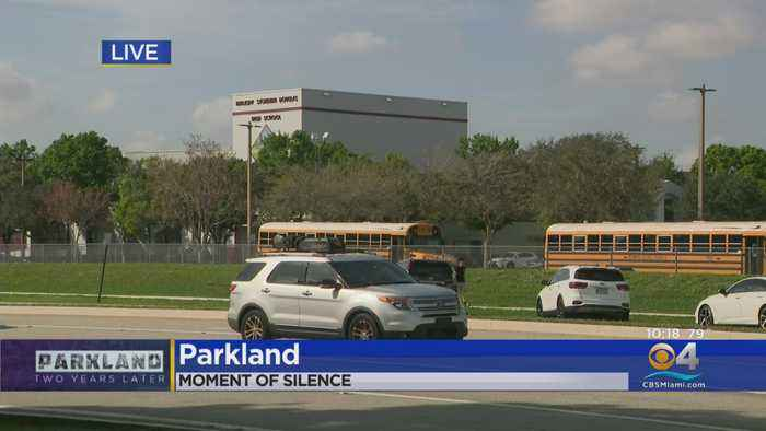 WEB EXTRA: Broward Schools Pause For Moment Of Silence To Commemorate The Parkland Shooting Two Years Later