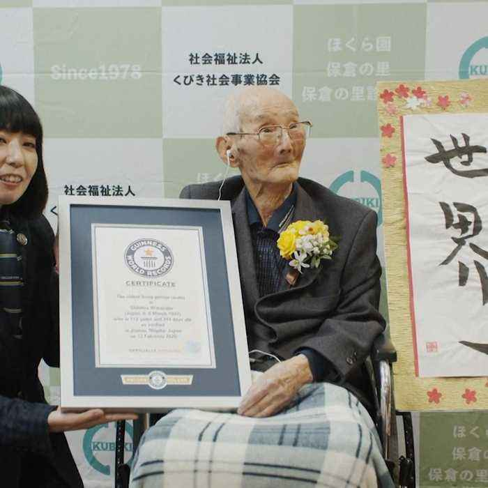 Adorable Japanese man becomes the oldest person in the world