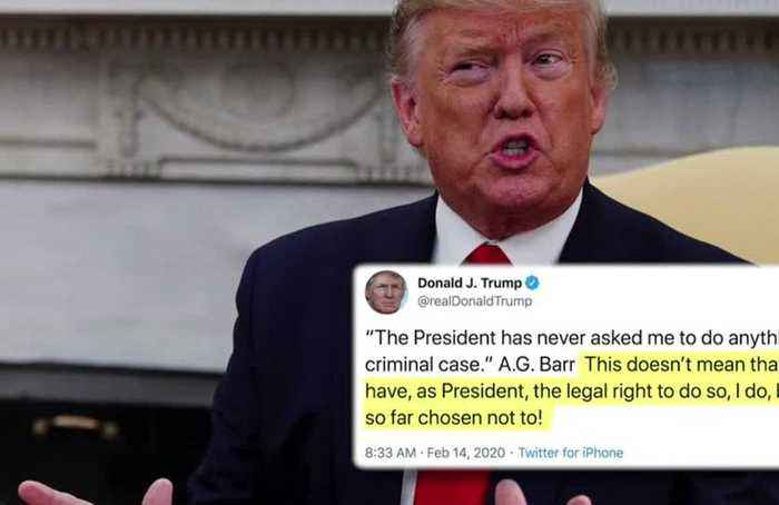 Trump defends 'legal right' to interfere in criminal cases
