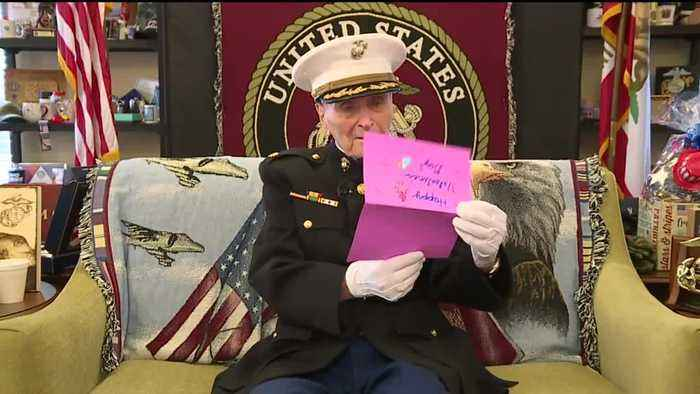 Stockton Marine Corps Veteran Receives Hundreds of Thousands of Valentine's Day Cards