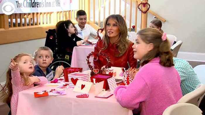 WEB EXTRA: Melania Trump Celebrates Valentine's Day at NIH