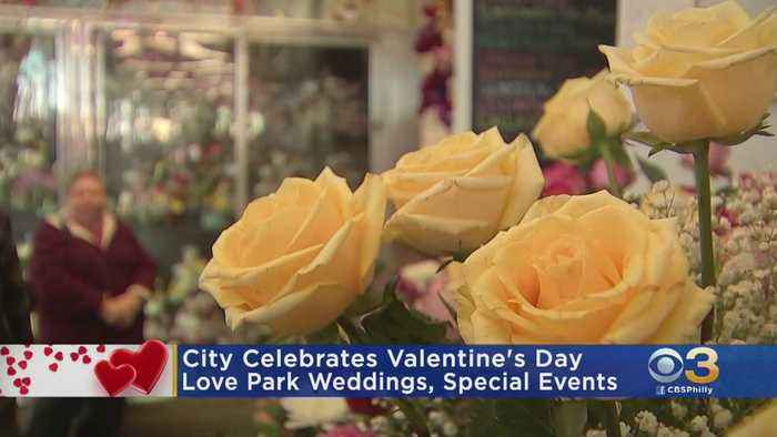 Valentine's Day Started Off Great With Couples Getting Married At Love Park, City Hall