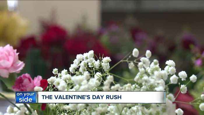 Segelin's Florist deals with the Valentine's Day rush