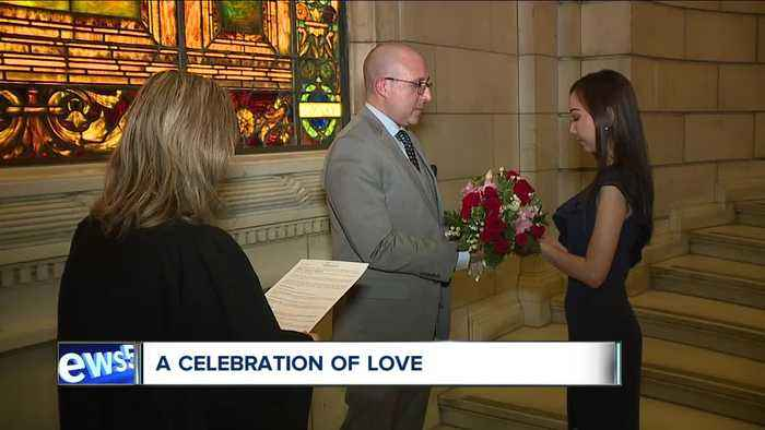 Domestic Relations Court hosts Valentine's Day wedding