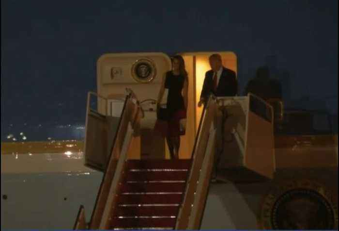 President Trump arrives in South Florida