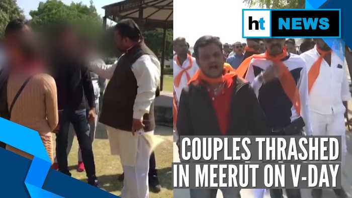 Watch: Couples thrashed in Meerut, chased away in Ahmedabad on Valentine's Day