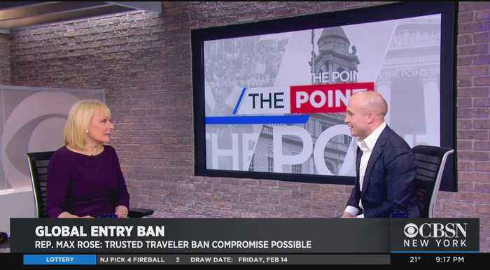 Rep. Max Rose: Trusted Traveler Ban Compromise Possible