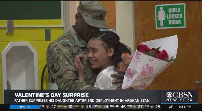 Father Surprises His Daughter After 3rd Deployment In Afghanistan