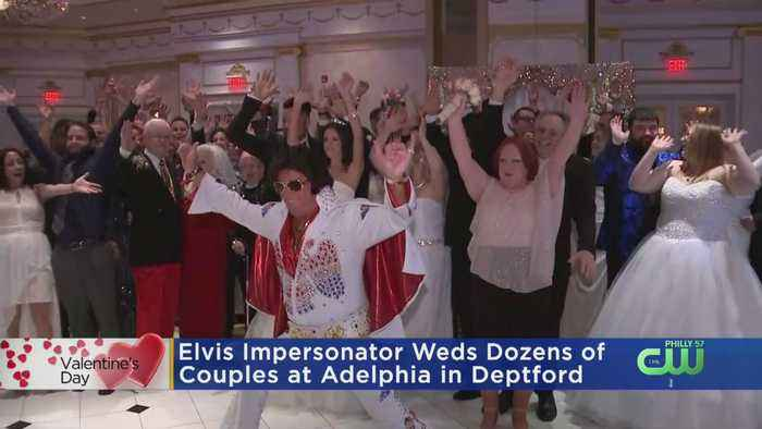 Elvis Impersonator Weds Dozens Of Couples In South Jersey