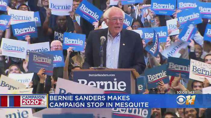 Democratic Presidential Candidate Bernie Sanders Rallies Supporters In Mesquite, Predicts Super Tuesday Victory In Texas