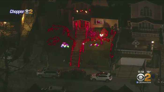 Dyker Heights Home, Empire State Building Light Up For Valentine's Day