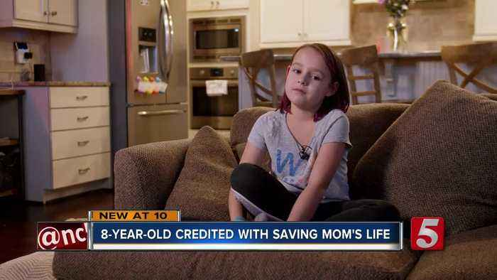 8-year-old Franklin girl helps save mom's life