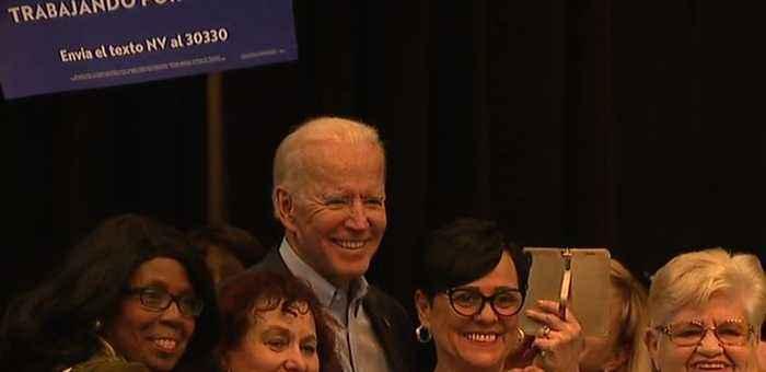 Vice President Joe Biden rallies supporters in Henderson