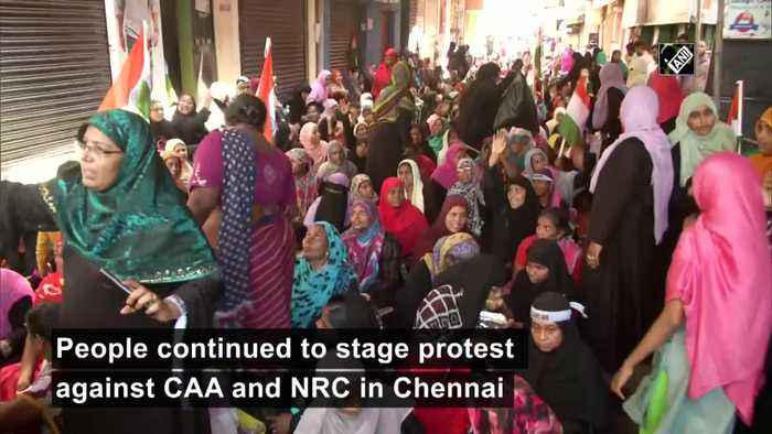 Anti CAA protest continues in Chennai