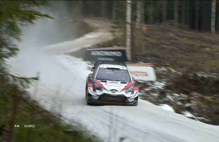 Great Britain's Elfyn Evans extends his lead after the early stages of day two at Rally Sweden