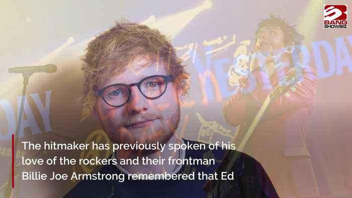 Ed Sheeran 'fan-girled' over Green Day