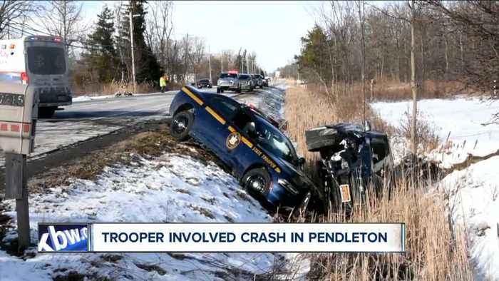 New York State police investigating trooper-involved crash in Pendleton