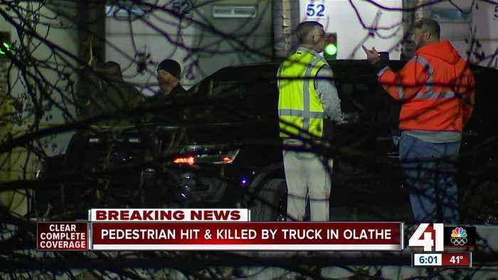 Pedestrian hit, killed by truck in Olathe