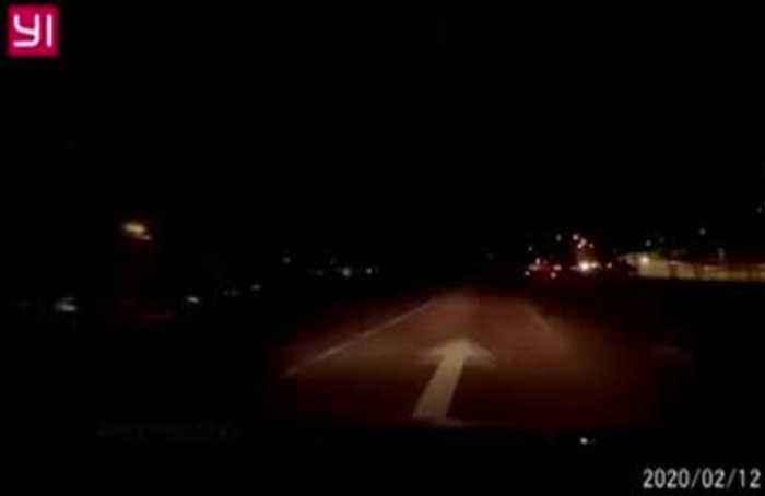Meteor illuminates Malaysia night sky