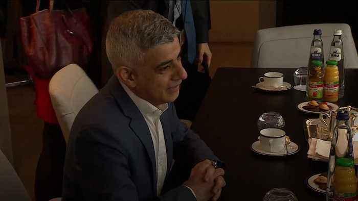 Sadiq Khan visits European Parliament in Brussels
