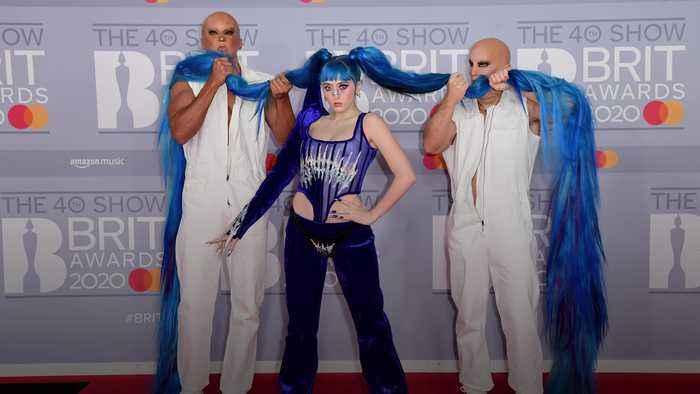 Stars hit red carpet at Brit Awards 2020