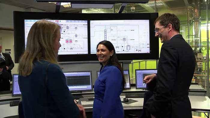 Priti Patel visits carbon capture research facility