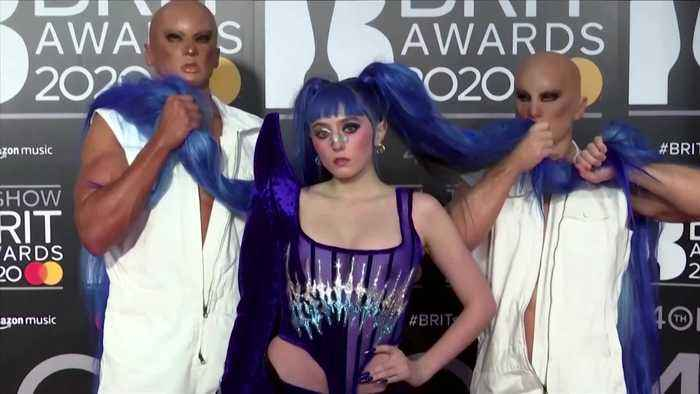 Stars arrive for the 40th Brit awards