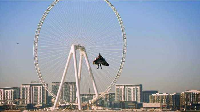 One step closer to autonomous human flight: Jetman flies 1,800m above Dubai