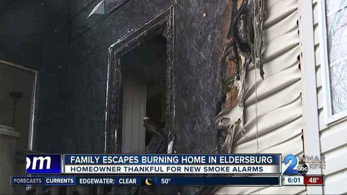 Family escapes burning home in Eldersberg