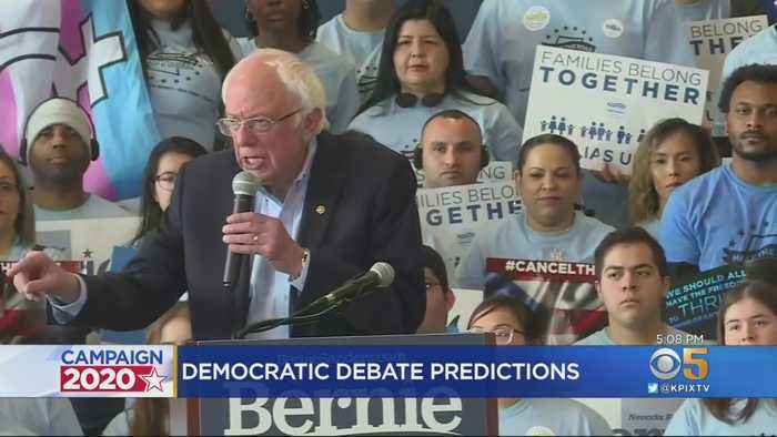 Dem. Presidential Candidates Hit Debate Stage In Las Vegas